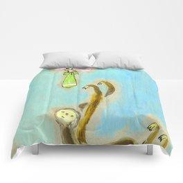 Flittery Fluttery vs Slowly Slothly Comforters