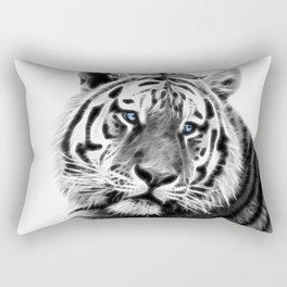 Black and white fractal tiger Rectangular Pillow