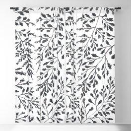 Black Leaves Blackout Curtain