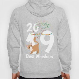 New Year's Eve 2019 Happy New Year Gift Cat Hoody