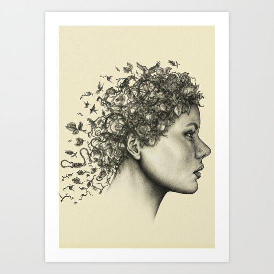 Spring woman Art Print