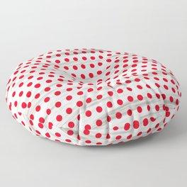 Retro red polka dot Floor Pillow