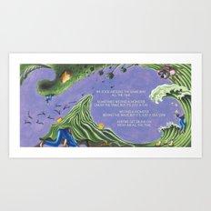 POEM OF MONSTERS Art Print