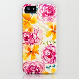 Floral Whimsy iPhone Case