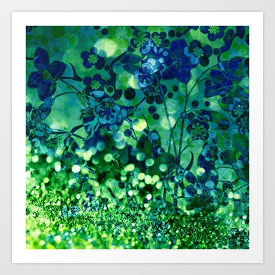 Bokeh floral Art Print