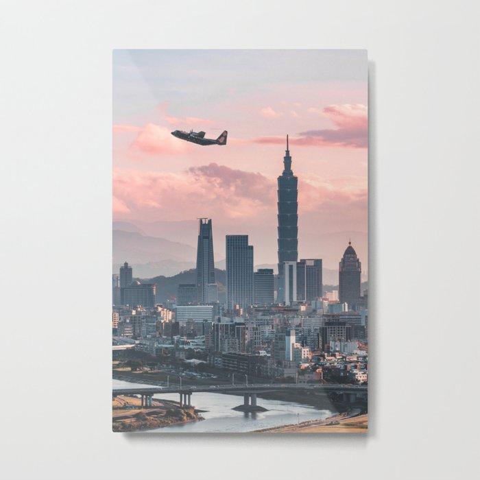Taipei Takeoff Metal Print