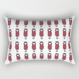 Red Coat Girl Rectangular Pillow