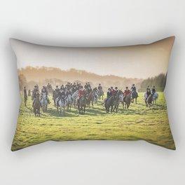 Cheshire Drag Hunt Boxing day 2016 Rectangular Pillow