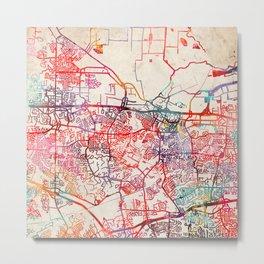 St Peters map Missouri MO Metal Print
