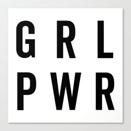 GRL PWR / Girl Power Quote Canvas Print