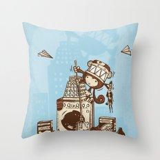 Laundry Monkie Throw Pillow