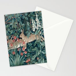 William Morris Forest Rabbits and Foxglove Greenery Stationery Cards