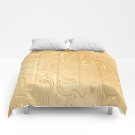 Liquid Gold Marble. Trendy golden ink marbling texture. Suminagashi art. Comforters