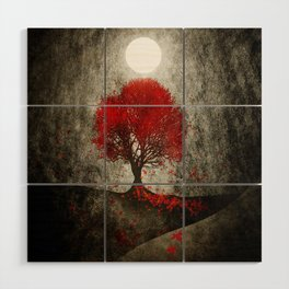 Red autumn. Wood Wall Art