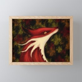 Fox Dragon Framed Mini Art Print