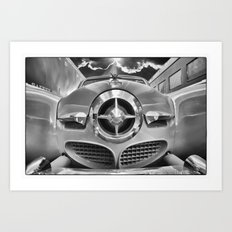 Studebaker and Trains Art Print