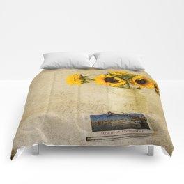 Vintage Sunflowers Comforters