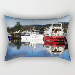 Boats on the Canal Rectangular Pillow
