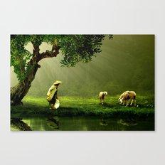 Shepherd Woman Canvas Print