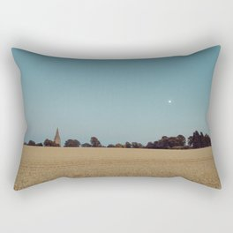 The Moon and the Church Rectangular Pillow