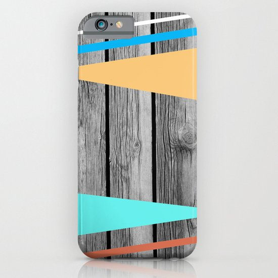 Colors On Monochrome Wood iPhone & iPod Case