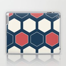Hexed Navy Laptop & iPad Skin