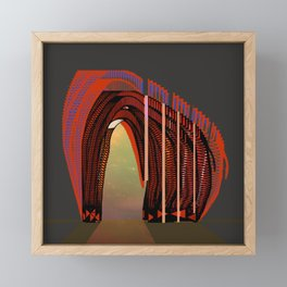 Entrance To The Unknown / Elephant 2 Framed Mini Art Print