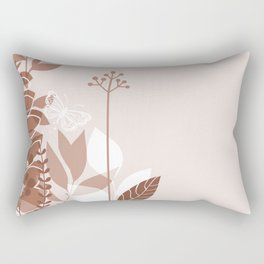 Botanicals and Butterfly Graphic Design 2 Sherwin Williams Cavern Clay SW7701 Rectangular Pillow