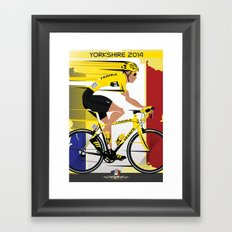 Grand Depart Yorkshire Tour De France  Framed Art Print