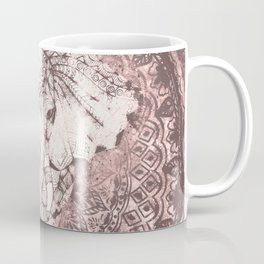 Bohemian, Elephant, Mandala, Blush, Moon Coffee Mug