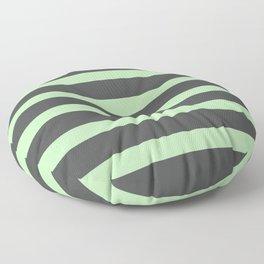 Mint Green on Gary Background Floor Pillow