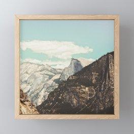 Half Dome Peek Framed Mini Art Print
