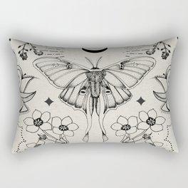 Bohemian Luna Moth Rectangular Pillow
