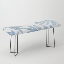Muted Blue Palm Leaves Bench