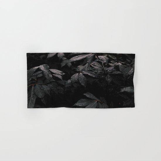 Black Leaf Hand & Bath Towel