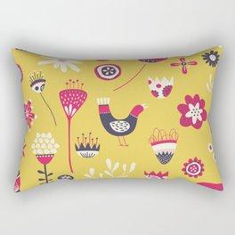 Scandi Floral Yellow Rectangular Pillow
