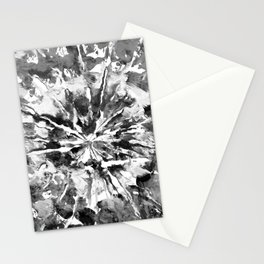 White & Black Tie-Dye Colored Pattern Design // Hand Painted Mandala Multi Media Abstract Stationery Cards
