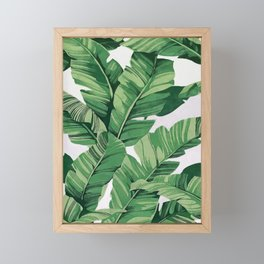 Tropical banana leaves VI Framed Mini Art Print