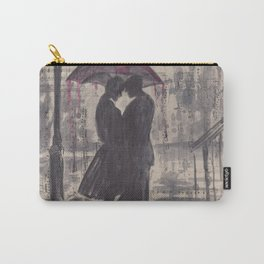 Silouette lovers on rainy street Carry-All Pouch