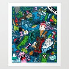 I Pattern Art Print