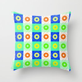 Floral squares in bright colors Throw Pillow