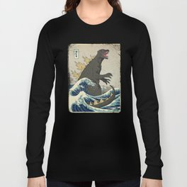 The Great Godzilla off Kanagawa Langarmshirt