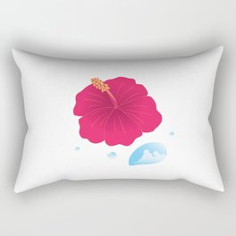 Hibiscus and Thunderhead reflected in a Drop of water_R Rectangular Pillow