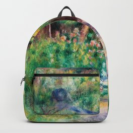 Pierre-Auguste Renoir - Landscape With Woman Gardening - Digital Remastered Edition Backpack