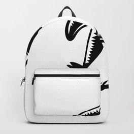 Gentoo Penguin Running Woodcut Backpack