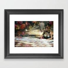 Skyfall in the Garden of Eden Framed Art Print