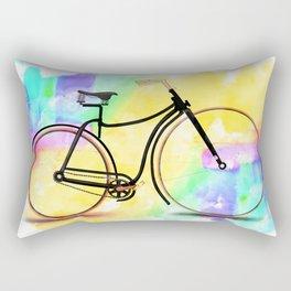 Pedal-driven beauty Rectangular Pillow