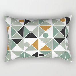 A Mishap of Some Trangles with a Few Dots Thrown In Rectangular Pillow