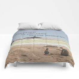 Footprints in The Sand Comforters