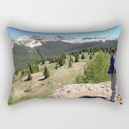 Surveying the Grandeur from Molas Pass, at 10,910 feet Rectangular Pillow